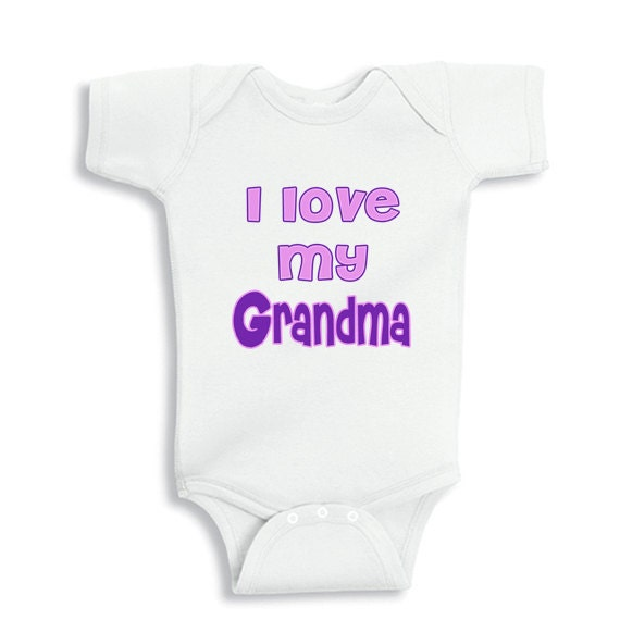 I love my Grandma personalized baby bodysuit