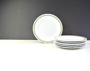 Corning Centura 1960s Tableware Lynwood Green Vintage Bread Dessert Side Plates Midcentury Dishes Made in USA Set of 7 Versatile Size