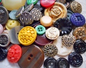 Large Button Lot - Vintage Buttons - Button Assortment - Over 100 Buttons