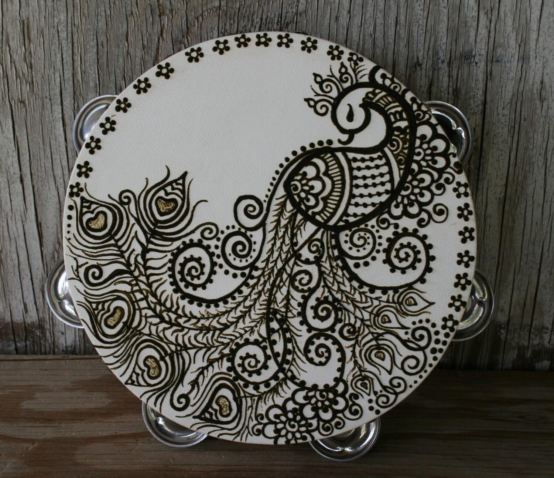 Henna Peacock: Henna Peacock Tambourine
