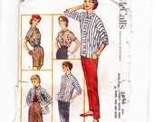 McCalls 3846 Vintage Misses Separates: Skirt, Blouse, Jacket, Pants & Shorts 1950's Sewing Pattern -4