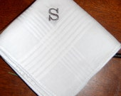 A Dash of Class, Monogram Set of 3 Monogrammed 100% Cotton Handkerchiefs. Perfect Valentine's Gifts for Men, Dads, and Grandpa