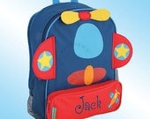 Backpack - Personalized and Embroidered - Sidekick Backpack - AIRPLANE
