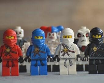 LEGO Ninjago Art Photography Print Framed 8x10  -Look out, Ninjas!-