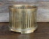 Brass Stand Candle Holder Round Brass Planter Office Storage Make up Brush Holder Retro Home Decor