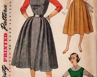 1940's Misses' Jumper, Dress and Blouse Simplicity 4422 Size 11 Bust 29