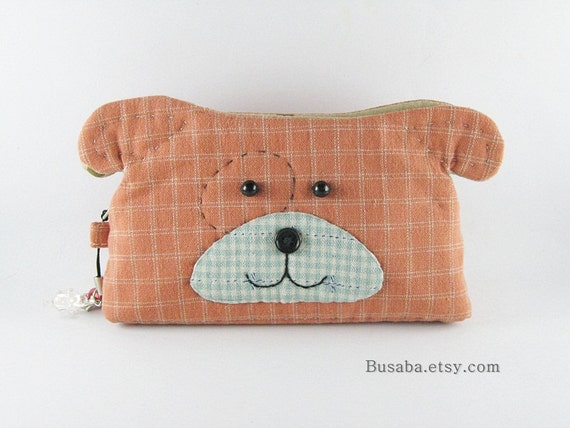 Dog Purse, Dog  Coin Pouch, Zipper Coin Pouch, Small Purse - Ready to Ship
