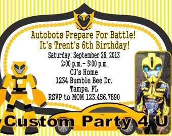 Transformers Photo Invite