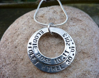 Personalised Silver Pendant.