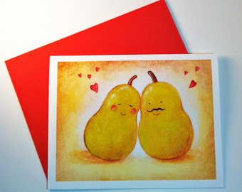 We make a great pear! Valentine's card by Megumi Lemons
