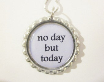 """Tea Infuser with Bottle Cap Charm - no day but today - 2"""" Mesh Tea Ball"""