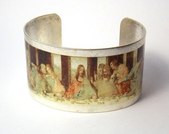 Da Vinici Last Supper painting cuff bracelet