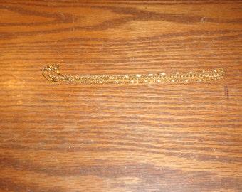 vintage bracelet 3 strand goldtone chains