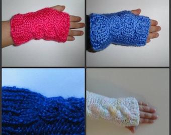 Knit Pattern Set 3 Fingerless Gloves Toddler, Children and Pre Teen Handwarmers Wrist warmers Knit Pattern