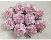 100 Handmade Mulberry Paper Flowers Pale Pink Wedding Roses Code SM - 124