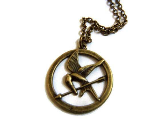 mockingjay necklace by tmjewelryandsupplies on etsy