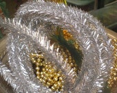 3 Yards Silver Wired Tinsel