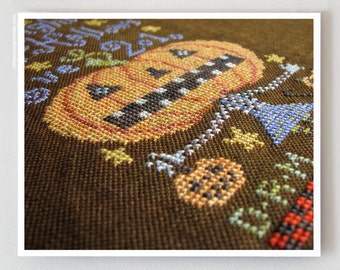 Lost Spirits : Birds of a Feather BOAF cross stitch patterns Halloween October Autumn counted hand embroidery