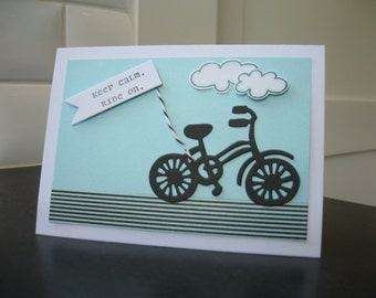 Bicycle Greeting Card, Keep Calm Card