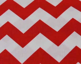 Red and White Chevron Cotton Riley Blake Fabrics.  - Aprons, Summer Dresses, Quilt Blankets, Baby Car Cover Seat, pillow covers, headbands