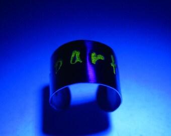 Fluorescent Ear Cuff Neon Color Lettering