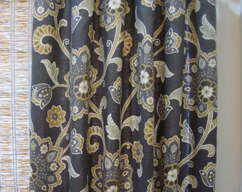 Window Curtains Breamore Ankara Curtain Panels Custom Designer Curtains Unlined Drapes