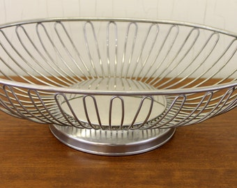 Vintage Silver Plated Display Dish w/Rounded Bottom & Curved Bars (E1695)