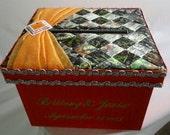 Personalize Mossy Oak Wedding Card Box, Money Holder, Gift Card Box, Boxes, Reception Card Box, Custom Made