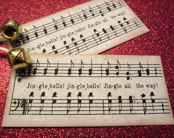 Christmas Tags Jingle Bells Music Gift Tags (10)