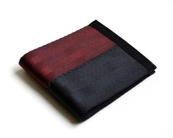 Men's wallet in black and oxblood