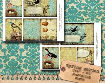 Spring Birds Printable Cards