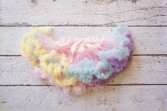 Pastel Rainbow Chiffon Ruffle Pettiskirt