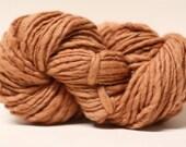 Wool Yarn Thick and Thin Slub TTS(tm) Handdyed  Fine Merino 66tts13014 Light Brown