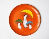 Vintage Mod Mushroom Serving Platter