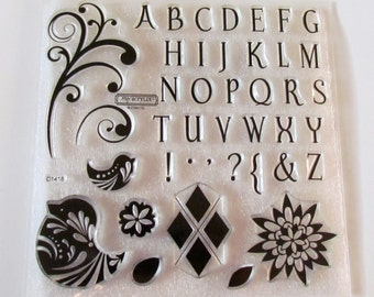 Alphabet - ACRYLIC Stamp Set