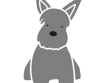 Terrier Dog Wall Stencil for Painting Kids or Baby Room Mural  (SKU324-istencil)
