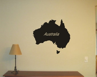 AUSTRALIA  Wall Sticker, Vinnyl Decal, Wall Tattoo