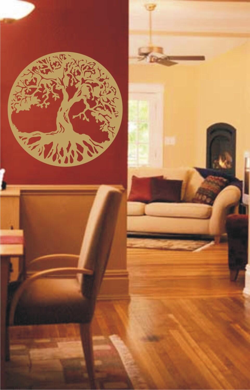 Gold Tree Of Life Vinyl Decal Wall Sticker Wall Tattoo By Tibi291