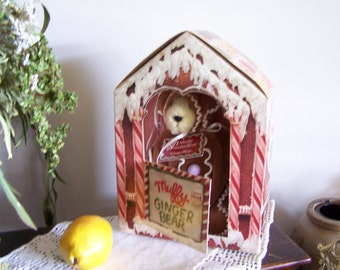 Vintage Ginger Bread House Bear,Christmas Muffy VanderBear 1992 Limited Edition NEW Collectible