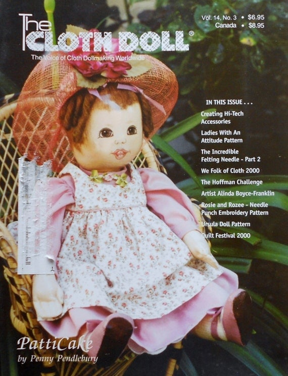 Back Issue Doll Making Magazine THE CLOTH DOLL PattiCake