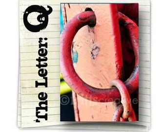 Letter Q Alphabet Photography  COLOR 4x6 Photo Letter Print