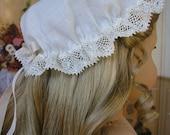 American Girl doll Colonial mob cap, Felicity Elizabeth