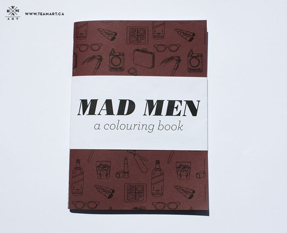 Mad Men - A Colouring Book - 5 x 7 in