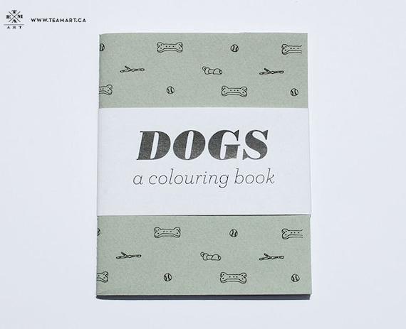 Dogs - A Mini Colouring Book - 4 x 5 in