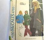 Vintage Sewing Pattern 1970s Misses Poncho McCalls 4763 Size Medium