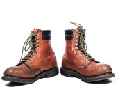 Vintage Red Wing Boots Short Rubberneck Steel Toe Work Boots for a Men's Size 10 1/2 E (Wide)