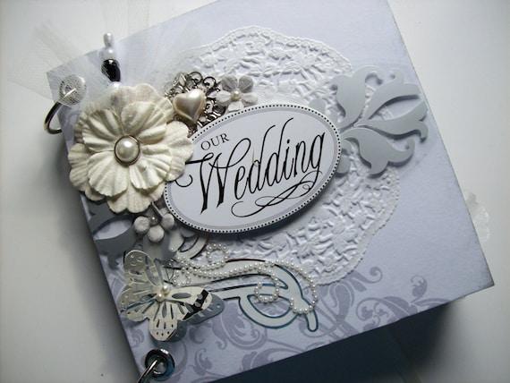 Wedding Scrapbook Mini Album W Pocket Pages Premade