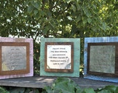 Personalized baby gift rustic on reclaimed wood with name and birthdate, custom quote, baby name, nursery art, nursery decor