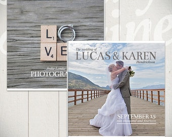 Wedding Album Template: Forever - 10x10 Wedding Book Template for Photographers