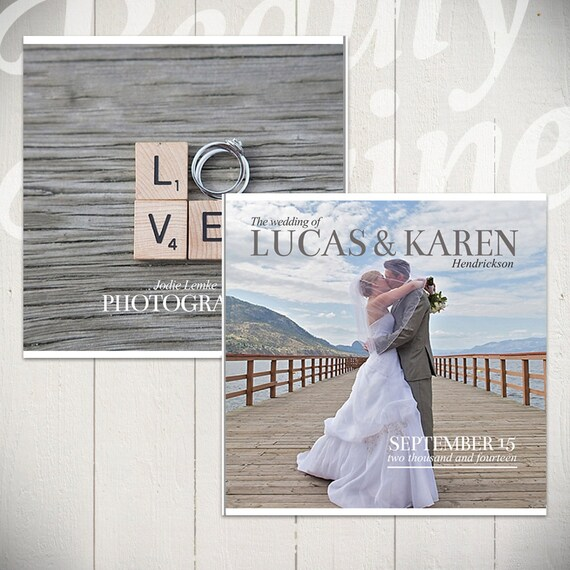 Wedding Album Template: Forever 10x10 Wedding Book Template